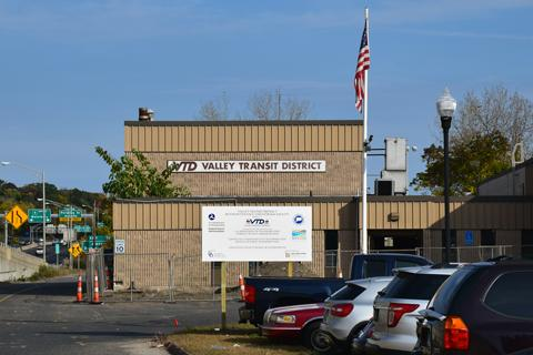 Valley Transit District Facility in Derby, CT prior to renovation