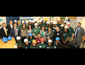 Hard-hat Hand-off at Hartford Public Schools
