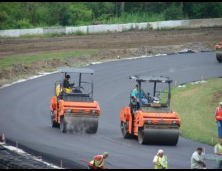 Paving at Lime Rock Park in Lakeville, CT